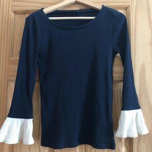 J crew women's navy blue sweater